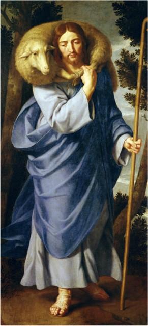 Картина Филиппа де Шампаня (XVII век) изображает Доброго Пастыря из причти Христа