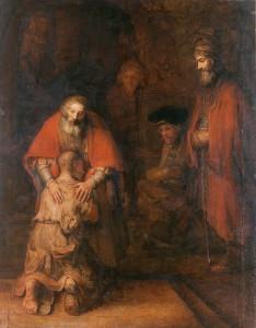 Рембрандт. Картина иллюстрирующая притчу Христа о блудном сыне ок. 1666-69, находится в Эрмитаже