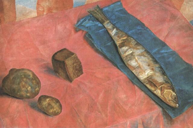 Фрагмент картины «Сельдь», 1918 год.